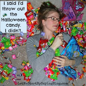 Kim and her candy on @LetMeStart