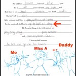 Miss A's letter at 4 Years Old
