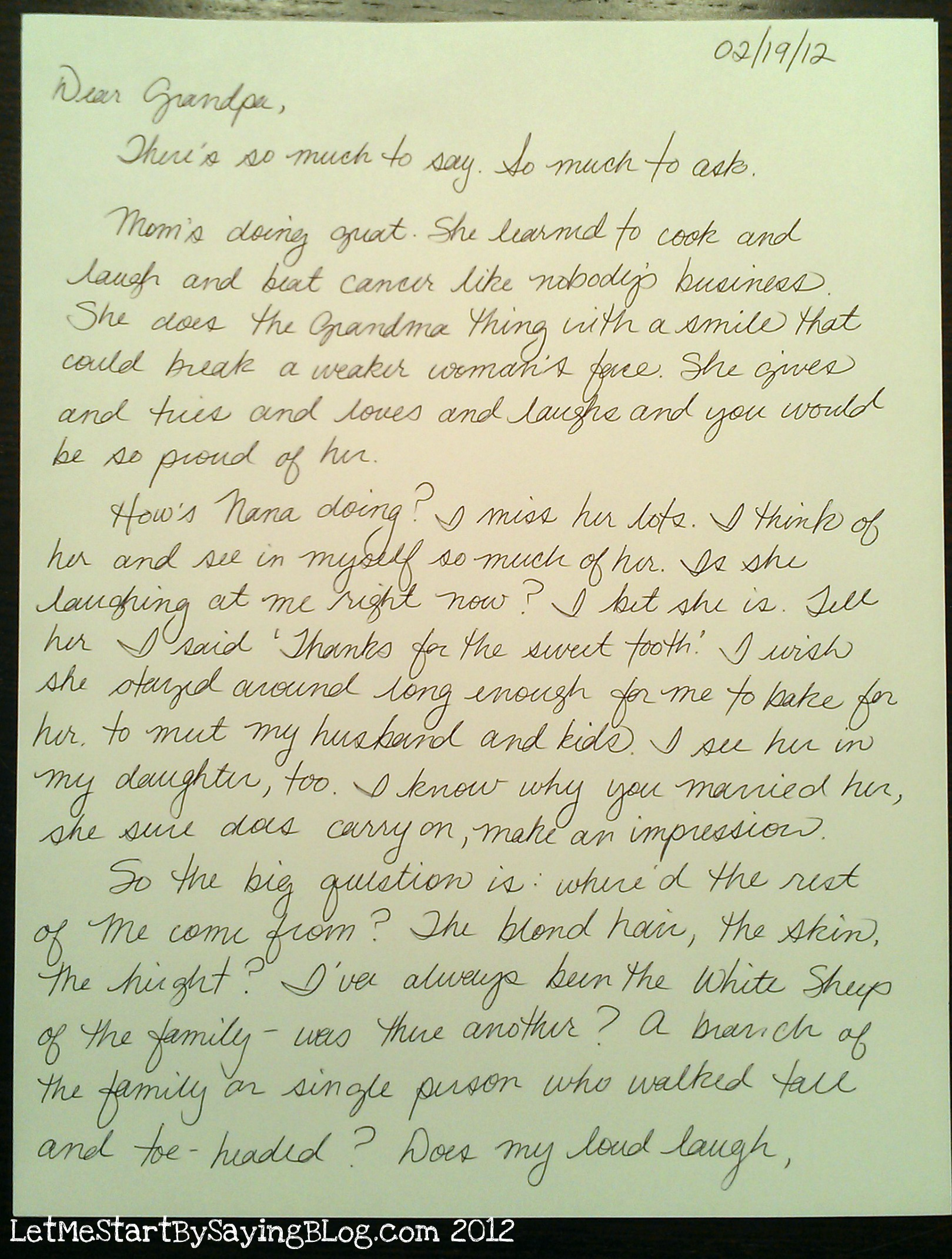 a letter to my grandfather Charles barzun with his grandfather's letters  but when i tried my hand at it, i  found it impossible to convey my thoughts or feelings.