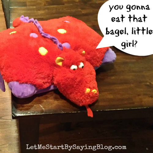 Eat a bagel dragon on @LetMeStart