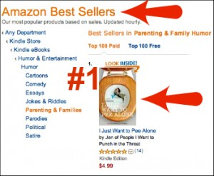 I Just Want to Pee Alone Top Paid Book on Amazon via @LetMeStart
