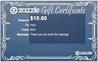 10 Zazzle Gift Card for the LetMeStartBySaying Gift Shop