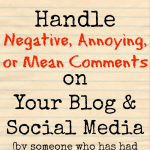 How to Handle Negative Blog Comments