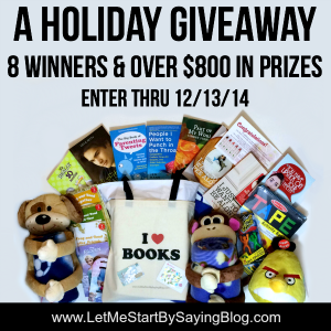 Holiday giveaway with 8 winners on LetMeStartBySaying ends 121314