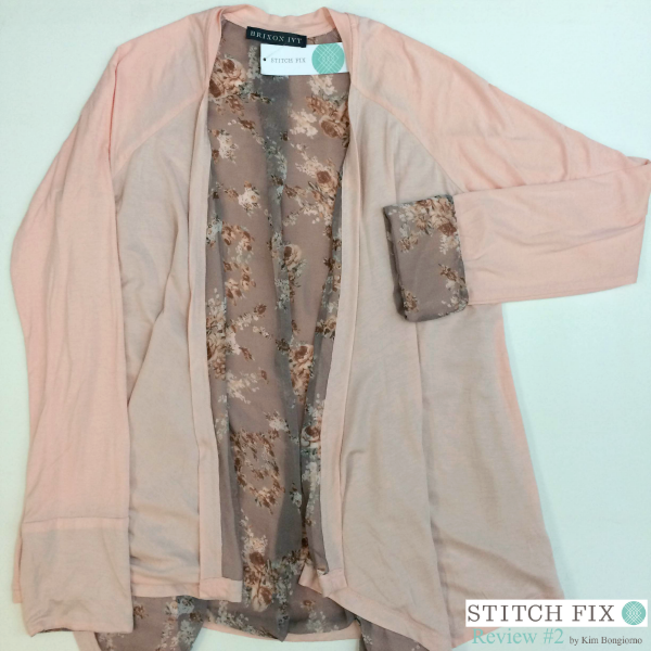 Brixon Ivy Potina Floral Lining Drape Cardigan $58 via #StitchFix Review by @letmestart | WAHM style | Brixon Ivy floral cardigan | fashion for tall women | pink