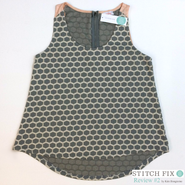 Eilieen Honeycomb Texture Knit Tank $54 via #StitchFix Review by @letmestart | WAHM style