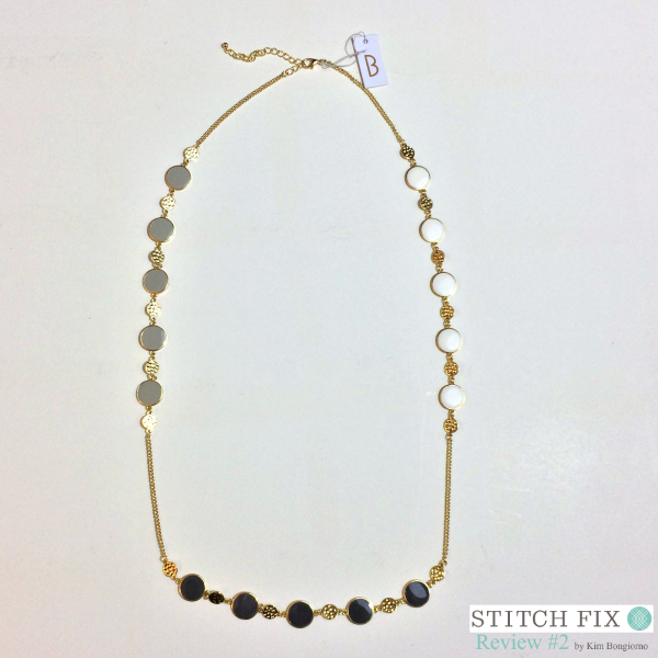 Tillman Enamel Circle Necklace $34 via #StitchFix Review by @letmestart | WAHM style | accessories