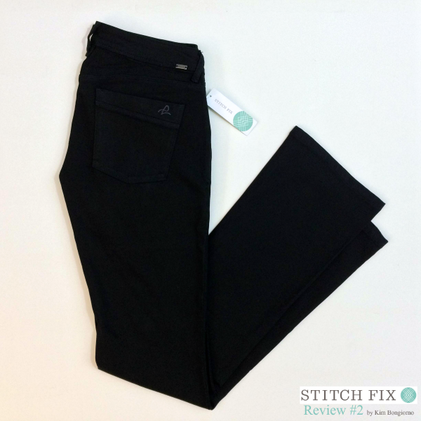 Zetta Bootcut Jeans $98 via #StitchFix Review by @letmestart | WAHM style | black denim | jeans for tall women