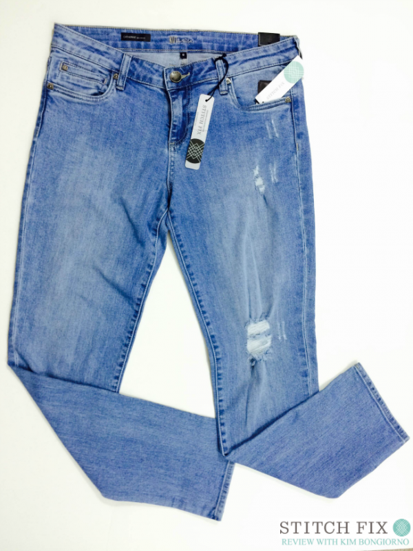Kut from the Koth for Stitch Fix makes these Kate distressed jeans that are surprisingly comfortable for summer jeans.