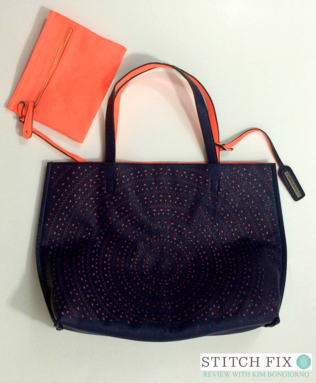 Kaelyn laser cut two-tone reversible tote from Stitch Fix via @letmestart | #stitchfix fashion tips and Stitch Fix Inspiration