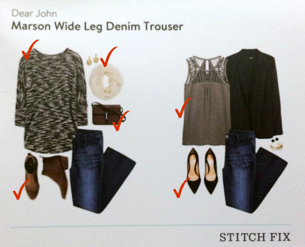 Stitch Fix Review styling card with denim trouser via @letmestart | #stitchfix fashion tips and Stitch Fix Inspiration