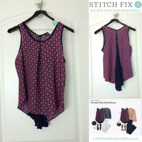 Papermoon Claraday Pleat Detail Blouse is so unique. See more pictures in this Stitch Fix review by @letmestart | #stitchfix fashion tips and Stitch Fix Inspiration