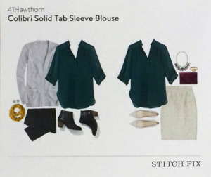 Colibri Solid Tab Sleeve Blouse Style Card featured in Stitch Fix Review by @letmestart | #stitchfix fashion tips and Stitch Fix Inspiration