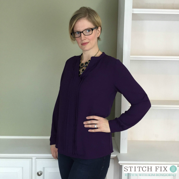 41Hawthorn Breyson Pleated Tab Sleeve Blouse from Stitch Fix with @letmestart | #stitchfix fashion tips and Stitch Fix Inspiration