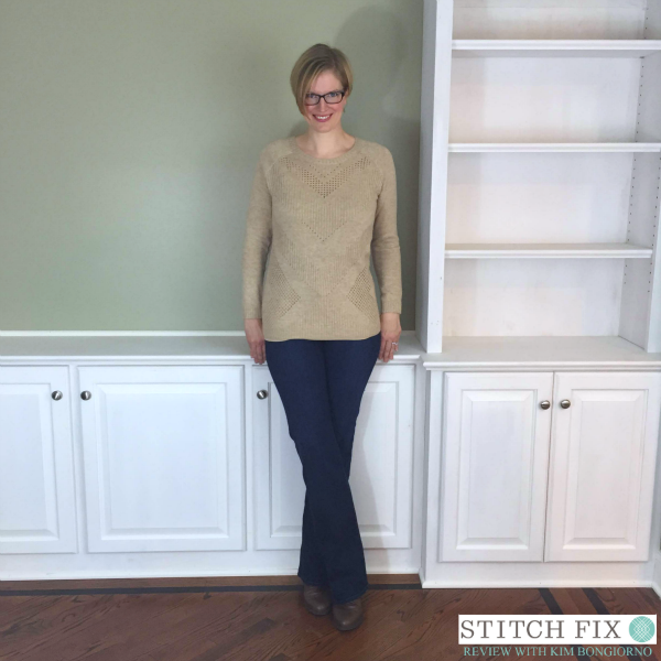 Market and Spruce Yuna Chevron Pointelle Knit Sweater and Kut from the Kloth Cai Bootcut Jean from Stitch Fix with @letmestart | #stitchfix fashion tips and Stitch Fix Inspiration