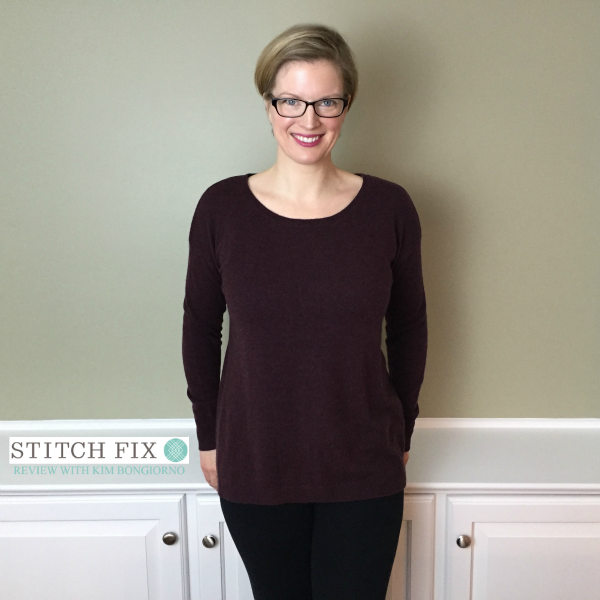 Stitch Fix review with Kim Bongiorno featuring Central Park West Lyndy Pullover Sweater in Burgundy | @letmestart | #stitchfix fashion tips and Stitch Fix Inspiration