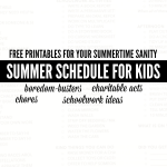 A Summer Schedule for Kids