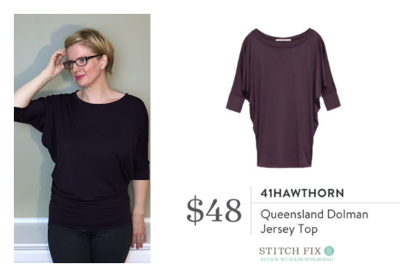 Stitch Fix 41Hawthorn Queensland Dolman Jersey Top in Dark Purple  | #stitchfix review by @letmestart