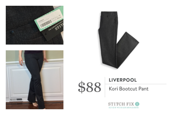 Stitch Fix Liverpool Kori Bootcut Pant in dark grey | #stitchfix review by @letmestart