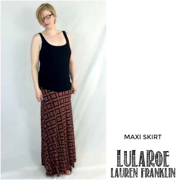 LuLaRoe Lauren Franklin featuring Kim Bongiorno in the LuLaRoe Maxi skirt - plus 14 other outfits! | WAHM style